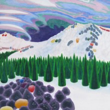 linda vivas – candy mountain – oil  on canvas