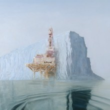 aleksander balos – offshore iceberg – oil painting – 36 x 54