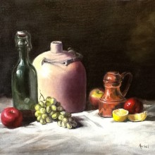 arial morgan – still life – oil painting