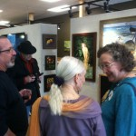 The Annual Forgery Show, the opening reception at Snow Creek Studios in Mt. Shasta