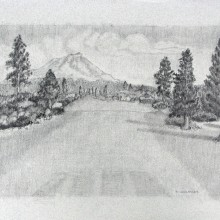 michael wecksler – golf course – 11 x 14 graphite on paper