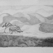 michael wecksler – landscape – 11 x 14 graphite on paper