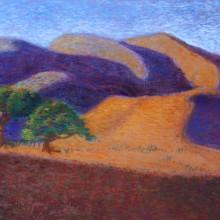 michael wecksler – landscape #2 – 11 x 14 – pastel on paper