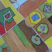 michael wecksler – aerial view drawings – pastels on paper