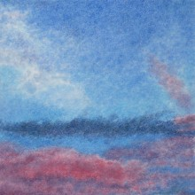 michael wecksler – clouds – pastel on paper