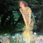 Ariel Morgan, Midsummer Eve, Oil on canvas 19 x 29 inch