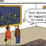 Funny Art Comics on paper
