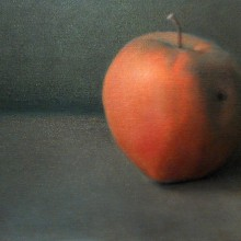 lynn chertkov, red apple, oil painting