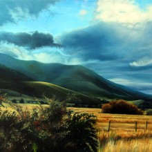 janet crittenden,  fall, northern california mountains #1, oil painting