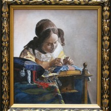 judy hester, after vermeer, oil on linen