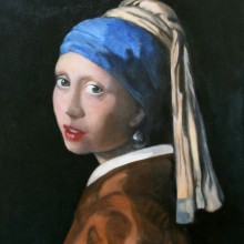 jenny purtle – vermeer's girl with pearl earring 2