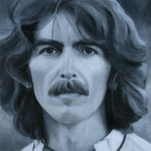 karen copsey, george harrison, oil painting