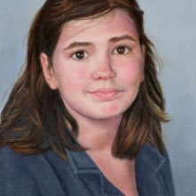ariel morgan, maggie, oil on canvas