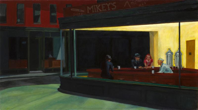 Michael Wecksler's forgery Edward Hopper's NighHawks