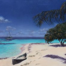 Lynda Hardy, South Water Caye, 20×16 oil painting