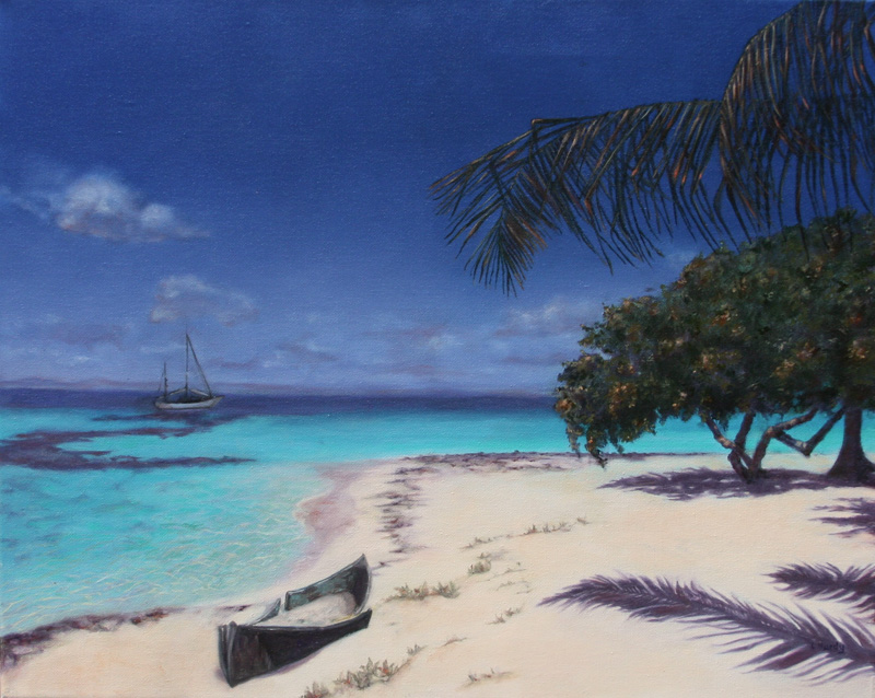 Lynda Hardy, South Water Caye, 20x16 oil painting