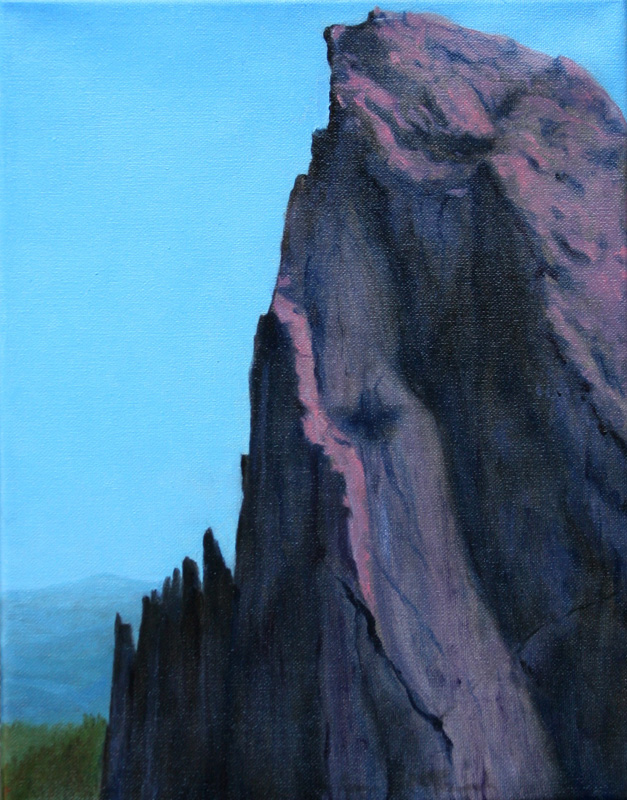 Anne McTavish, Mountain, oil painting