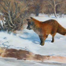 lucinda macy's forgery – Bruno Liljefors's Winter Landscape with Fox