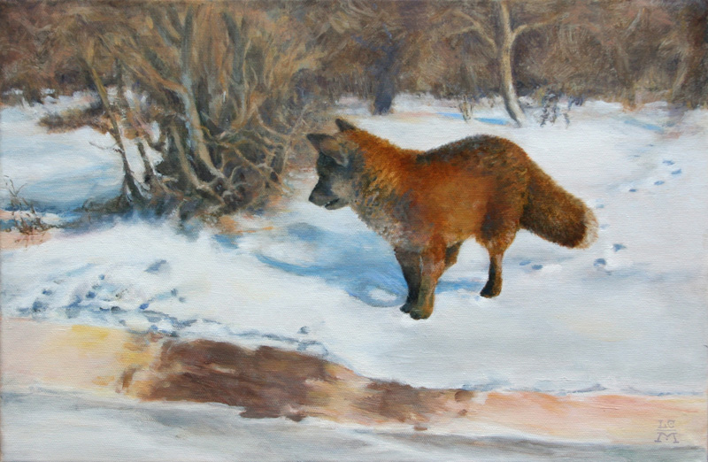 lucinda macy's forgery - Bruno Liljefors's Winter Landscape with Fox