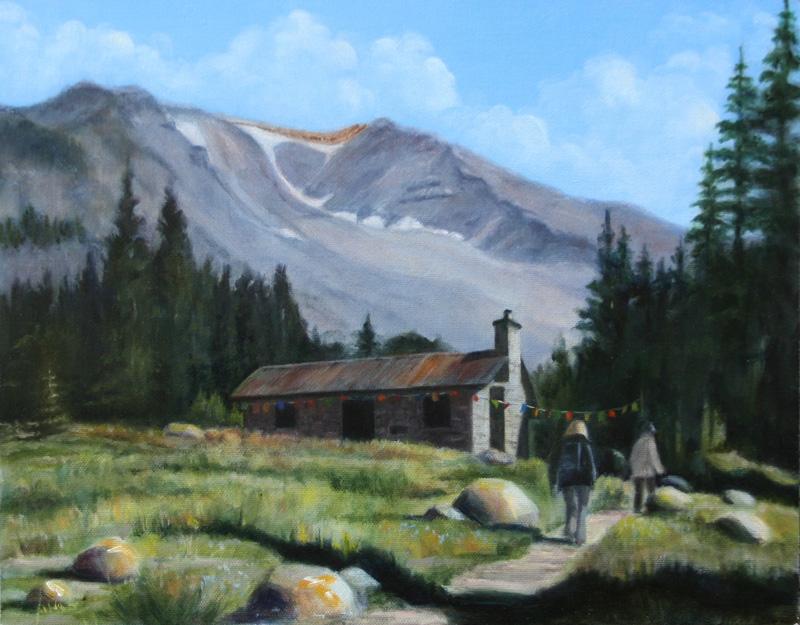 karen copsey, horse camp, oil painting