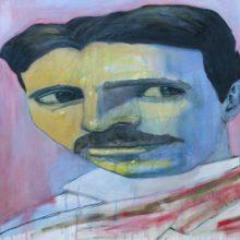 Michael Wechsler – Nikola Tesla oil painting