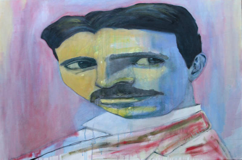 Michael Wechsler - Nikola Tesla oil painting