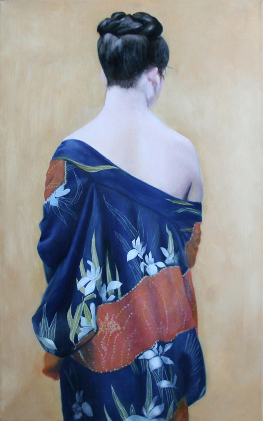 Kimono with Iris Pattern by Okada Saburosuke