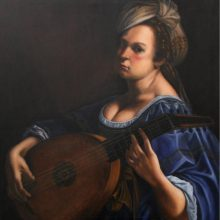 Karen Copsey's forgery – Self Portrait as a Lute Player by Artemisia Gentileschi