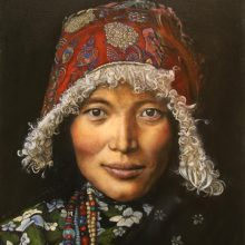 Judy Hester, Tibetan Woman, oil on canvas