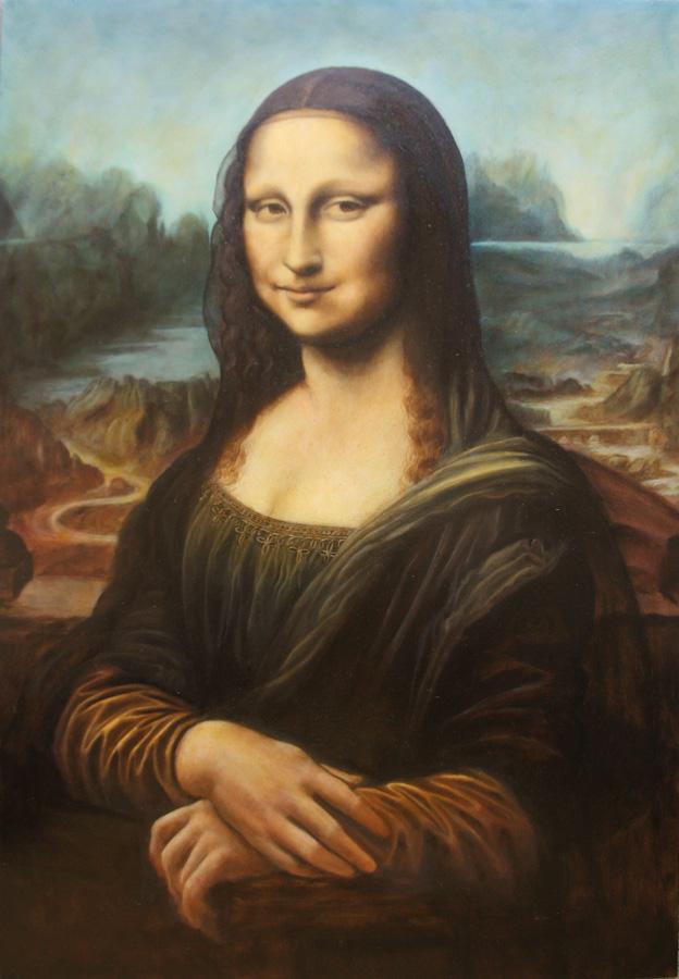Dustin Bonivert's forgery of Mona Lisa by Leonardo da Vinci