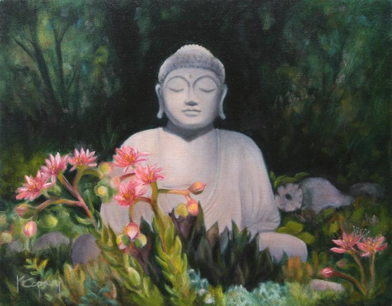 Karen Copsey - Buddha - Oil on Canvas