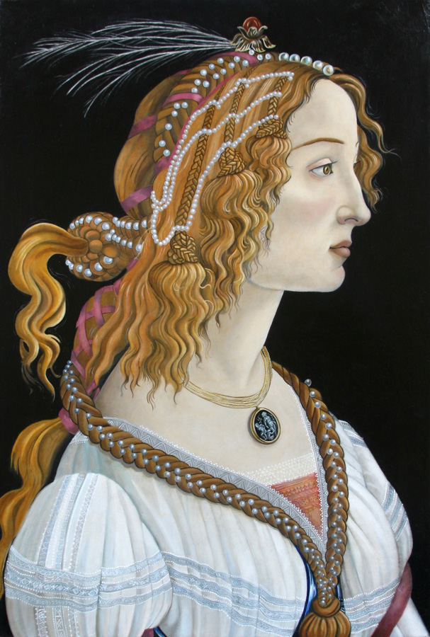 Karol McGuire's Forgery after Sandro Botticelli's Portrait of a Young Woman