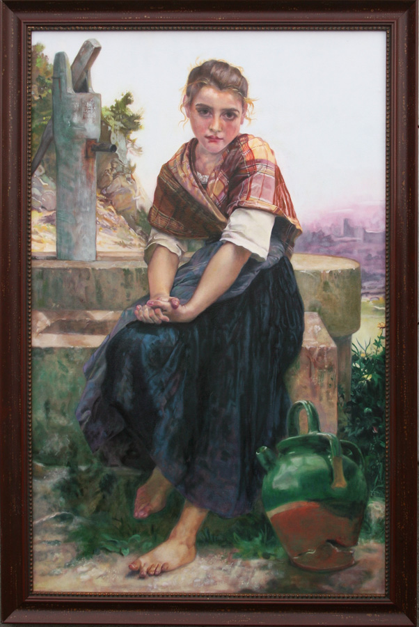 Suzanne Van Summern's forgery after William-Adolphe Bouguereau, oil on canvas