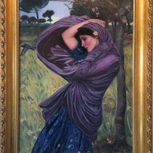 Lynda Hardy's forgery after Waterhouse, oil on canvas
