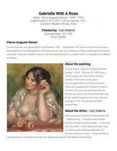 Carl Adams painting of Renoir